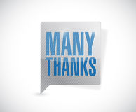 Many thanks message bubble illustration design Stock Photos