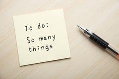 So many things to do Stock Photo