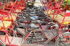 Many thishaw on parking Royalty Free Stock Image