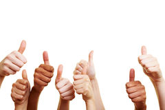 Many thumbs up Royalty Free Stock Images