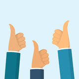 Many thumbs up Stock Images