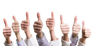 Many thumbs up Royalty Free Stock Photography