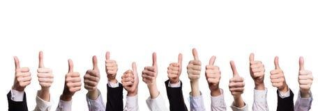 Many thumbs up Stock Photo