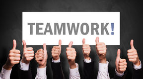 Many thumbs up to Teamwork Stock Photos