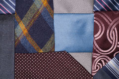Many ties of various colors, which intertwined Royalty Free Stock Photography