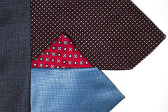 Many ties of various colors, which intertwined Stock Image