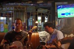 Irish Musicians in a pub in Ennis Ireland Stock Photography