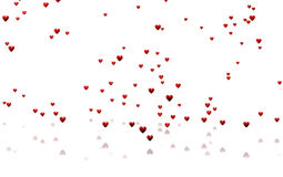 Many Tiny Red Hearts with a White Background Stock Image
