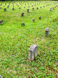 Many tombstones. Many Japanese soldier`s grave Stock Photography