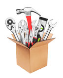 Many Tools in box Stock Images