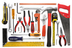 Many Tools Isolated On White Background Royalty Free Stock Photo
