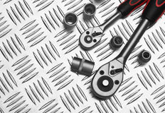 Many Tools on metal royalty free stock image