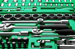 Many Tools in tool box royalty free stock image