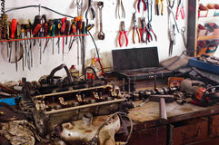Many tools in a workshop Stock Images