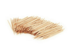 Many toothpick,  on white Royalty Free Stock Photos