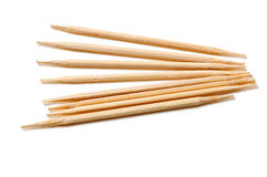 Many toothpick. On a white background Stock Photos