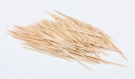 Many toothpicks. A heap of wood toothpicks Stock Images