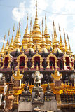 Many top of Gold pagoda Royalty Free Stock Photo