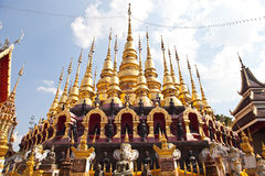 Many top of Gold pagoda Royalty Free Stock Photos