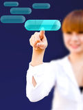 Many touchscreen modern button Royalty Free Stock Photography
