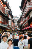 Many tourist on street in Shandhai Old City, China Stock Photography