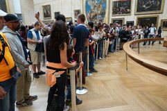 Many Tourists at the Louvre Museum Royalty Free Stock Images