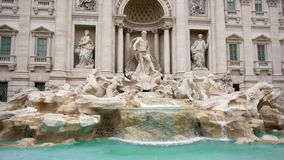 Many tourists near the Fountain di Trevi in Rome, Italy. Slow Motion stock video footage