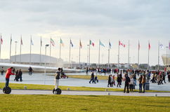 Many tourists  in Olympic park. Russia,Sochi Stock Photography