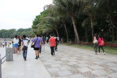 Many tourists in shenzhen china Stock Image