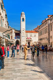 Many tourists visit the Old Town of Dubrovnik Stock Photo