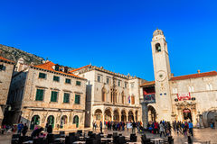 Many tourists visit the Old Town of Dubrovnik Royalty Free Stock Images