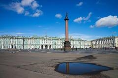 Many tourists walking through Palace Square, Saint Petersburg Stock Photo