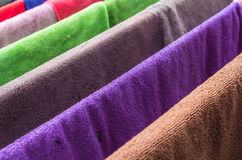 Many  towels color Stock Images