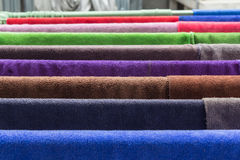 Many  towels color Royalty Free Stock Photos