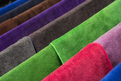 Many  towels color Stock Photos