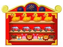 Many toys on the shelves Stock Photos