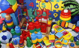 Many toys Stock Photography