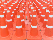 Many traffic cones Stock Image