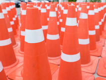 Many traffic cones Royalty Free Stock Photography