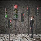 Many traffic light Stock Photo