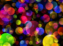 Many transparent bubbles in Chaotic Arrangement Royalty Free Stock Photos