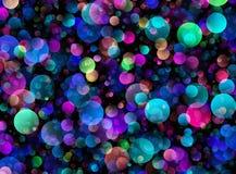 Many transparent bubbles in Chaotic Arrangement Stock Photos