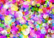 Many transparent bubbles in Chaotic Arrangement Stock Images