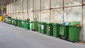 Many trash bins Royalty Free Stock Image