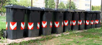 Many trash bins for separate waste collection 4 Royalty Free Stock Image