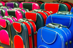 Many travel suitcases. Royalty Free Stock Image