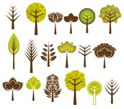 Many trees, vector Royalty Free Stock Images