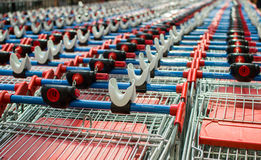 Many trolleys  in row Stock Photography