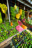 Many tropical fruits in outdoor market Stock Photography