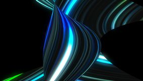 Many twisting glow lines, abstract computer generated backdrop, 3D render. Ing stock footage